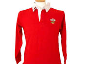 Childrens Red Long Sleeve Rugby Shirt