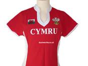Ladies Wales Red Rugby Shirt