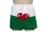 Mens Wales Flag Shorts